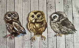 Stephanie Weightman Two Red Robins Owl Trio From Nature's Homestead Die Cuts