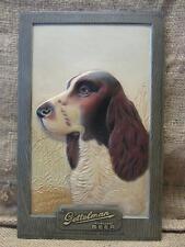 Vintage 1951 Getteman Beer Sign Dog Hound Plastic > Antique Old Brewery 9427