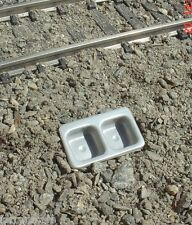 Stainless Double Sink Miniature 1/24 Scale G Scale Diorama Accessory Item