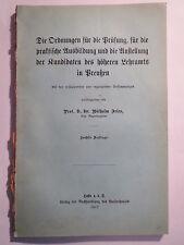 Wilhelm Fries-Les ordres pour... Plus élevé Capes Lettres en Prusse - 1912