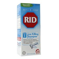 RID Lice Killing Shampoo Step 1 Treatment Comb Eggs Nit 8oz Bayer Conditioner