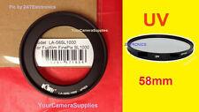 ADAPTER RING+UV FILTER TO CAMERA FUJI S9800 S9900W S9950W SL1000 S9450W 58mm