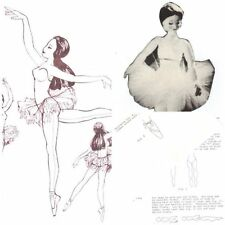 """Vintage Pattern for a 20"""" Ballerina Doll ballet Dancer"""