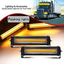 COB LED Amber Strobe Traffic Emergency Light Bar Warning Lamp Remote Control