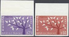 FRANCIA EUROPA Nº1358/1359 SELLO NO DENTADO IMPERF 1962 NEUF LUXE MNH