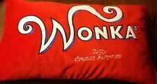 """Willy Wonka Red Nutty Crunch Surprise 20""""x 12"""" Plush Pillow"""