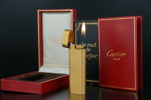 Cartier Vintage Lighter Gold plated  w/Box Working #CL46