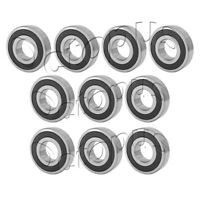 10PC Premium 624 2RS ABEC3 Rubber Sealed Deep Groove Ball Bearing 4 x 13 x 5mm