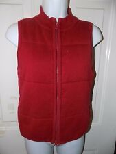 AMERICAN EAGLE OUTFITTERS RED ZIP UP VEST SIZE S EUC