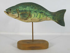 Folk Art Carved & Painted Large Mouthed Bass Fish by Minister Randy Hofman  yqz
