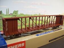 HO ILLINOIS CENTRAL 72' Centerbeam Flat Car #977147 - Metal wheels!