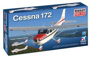 Minicraft Cessna 172 W/ 2 Marking Options 1/48 Plastic Model Plane Kit 11686