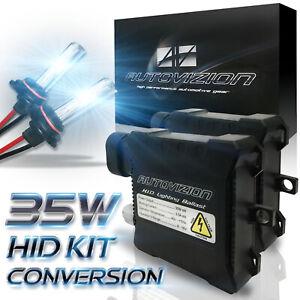 XENON HID Headlight Conversion Slim Ballast KIT 9006 9005 D1S H1 White 6000k 6k