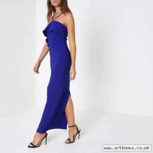 River Island Dress Maxi Blue Size 10 New with Tags RRP £60