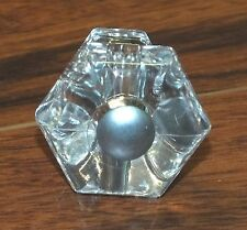 (1) Clear Shiny Plastic Crystal Decor Cabinet Door or Drawer Knob / Pull-Handle!