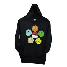 POKEMON Mens Hoodie Sweater S M L XL PIKACHU Pullover PokeBall Comic Con NEW