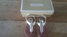 New Michael Kors toddler girl size 8 gold MK logo Lil Marcella sandals