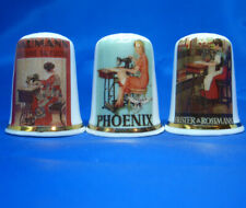 Birchcroft Thimbles -- Set of Three -- Sewing Machine Posters Germany
