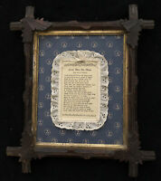 Antique Eastlake Wood Picture Frame Vintage Lord, Bless This House Poem Freeman