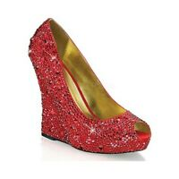 Fabulicious FLAIR-419 G Shoes Silver Multi Glitter Clear Open Toe High Heels