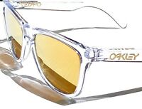 Oakley Frogskins Clear Crystal w 24K GOLD Fire Iridium Sunglass oo9013-A3