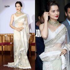 Designer Fancy Saree Sari Party Wear Wedding Indian Pakistani Bollywood Ethnic
