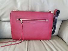 "Rebecca Minkoff Regan Sleeve Leather 13"" MacBook/Laptop Bag w/ Strap Slim Red"