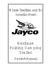 Jayco Fold-Down Pop-Up Tent Trailer Owners Manual- 2000 Heritage