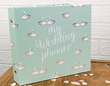 My Wedding Planner Ring Folder With a Swan Design 20x18x3cm