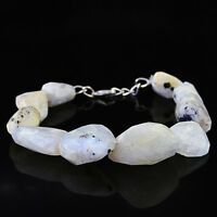262.50 CTS NATURAL RICH WHITE MOONSTONE FACETED BEADS BRACELET - LOWEST PRICE