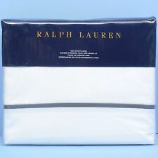 RALPH LAUREN Palmer Percale KING DUVET COVER NWT Modern Charcoal White HOTEL NEW