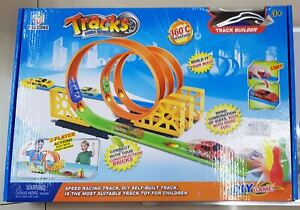 2 Player Speed Racing Track Bowling Game Race Cars & Pins Kids Gift