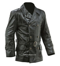 WW1 German fighter pilots leather coat BLACK - made to order