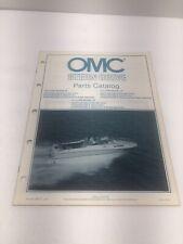 Omc Stern Drive Parts Catalog 5.0 5.7 2V 4V Marine Boats Watercraft 1985