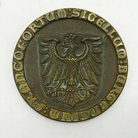 Medaille Stadtsiegel Frankfurt Bronze Sigellum Burgensium Francofortum 7,5 cm