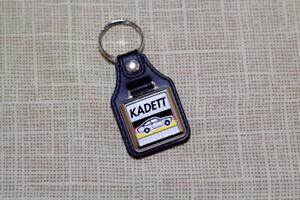 Opel Kadett C Coupe Keyring - Leatherette and Chrome Keyfob