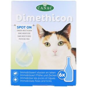 6x Flohmittel Anti Floh Anti Zecken für Katze Spot On Dimethicon (6x 1,5ml)