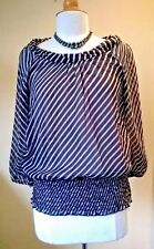 Vera Moda ladies NEW navy beige blouse Size UK 12 Tall
