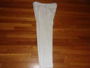 PETER MILLAR CROWN SPORT WHITE GOLF PANTS MENS 34X32 EXCELLENT CONDITION