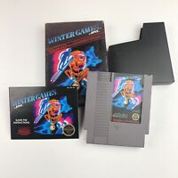 Winter Games Nintendo NES Game Authentic CIB Complete In Box Tested Fast Free