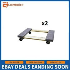 "Set of 2 Swivel Padded Sidewalls 18"" x 30"" Furniture Mover Dolly 660lbs Capacity"