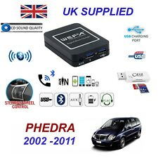 For Lancia Thesis Phedra Bluetooth Telephone Streaming AUX Input 2 x USB SD Card