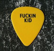 BILLY IDOL // 1984 Rebel Yell Concert Tour Guitar Pick / Yellow/Black F*CKIN KID