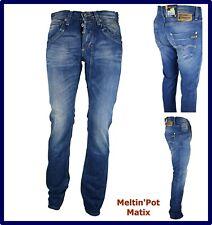Jeans Meltin pot da uomo matix pantaloni denim gamba dritta dritti denim w30 44