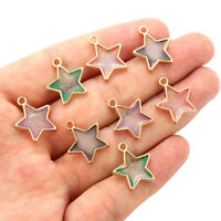 10Pcs/Lot Star Shape Oil Drop Charms Alloy Pendants DIY Bracelet Jewelry Making