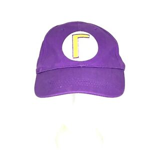 New Super Mario Bros. Authentic Waluigi Strap Back Hat Spellout Purple Yellow