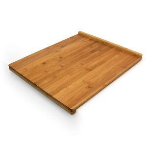 Tranchierbrett Backbrett Anschlagskante Bambus Küchenbrett Schneidebrett Holz