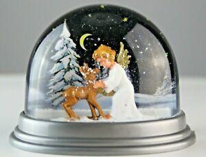 Schneekugel Engel Bakelit Hartplastik 50er 60er 70er Stil 50s 60s 70s Weihnacht