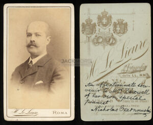 Signed CDV of Pianist / Musician Possibly Composer 19th Century CDV Photo, Rome