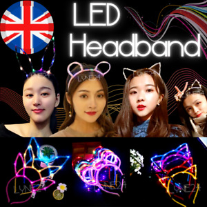Festival Lovely LED Effect Rabbit Cat Ears Gift Head Band Party Glowing Supply